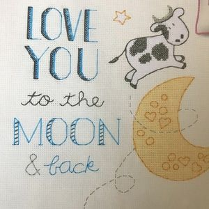 Dimensions TO THE MOON Counted Cross Stitch Kit